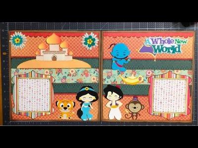 Aladdin, 2 Page 12x12 Scrapbook Layout