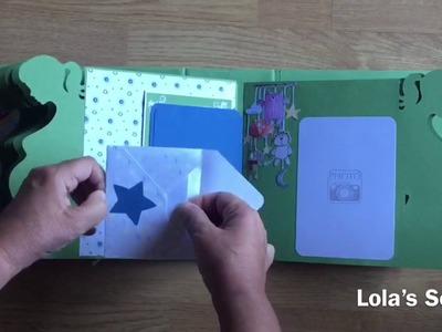 Álbum 9 meses de embarazo.El altillo de los duendes. DIY Scrapbook