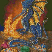 Unique Hand Made pdf Sewing Dmc Crafts Dragon's Treasure Cross Stitch Pattern***LOOK***