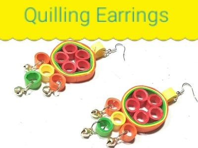 Beautiful Quilling Paper Earrings | Woman Garden