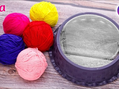 Best out of waste Atta Chalni & Wool Craft Idea | DIY Home Decor | Artkala