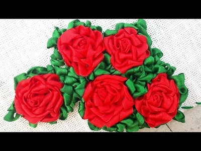 Bhorat ason design-table mat ribbon rose design-hand embroidered