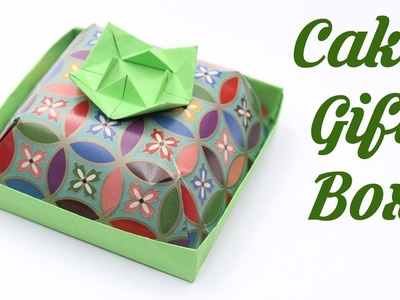 Cake Gift Box, Easy Origami for Kids, Basic origami, Simple Origami for Beginners, Paper Origami