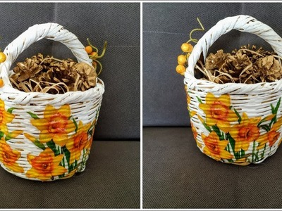 DIY: Decoupage With Napkins - Home Tutorial - How To Renew Your Old Willow Baskets