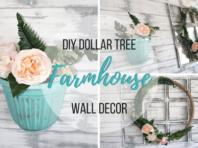DIY DOLLAR TREE FARMHOUSE WALL DECOR