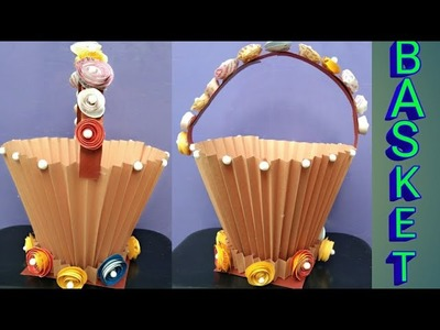 DIY Paper Basket   How to Make Easy According Paper Basket   How to make Paper Bucket   Paper Craft