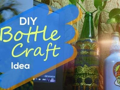 DIY WASTE GLASS BOTTLE CRAFT   SD Creation