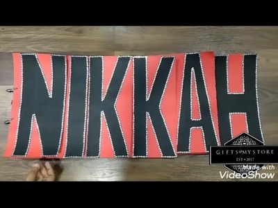 Gift for wife. Nikkah scrapbook. name scrapbook