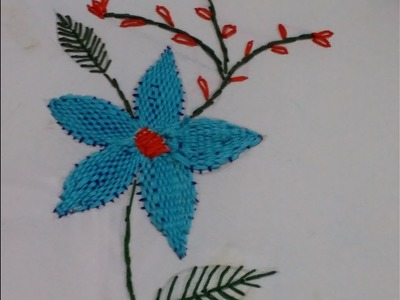 Hand embroidery design. checkered stitch