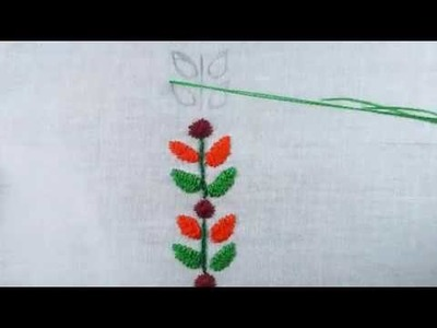 Hand embroidery flower stitch,embroidery design