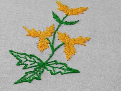Hand embroidery flower stitch for bed cover