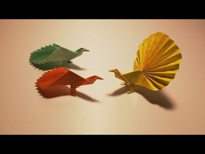 How to fold the peacock with paper
