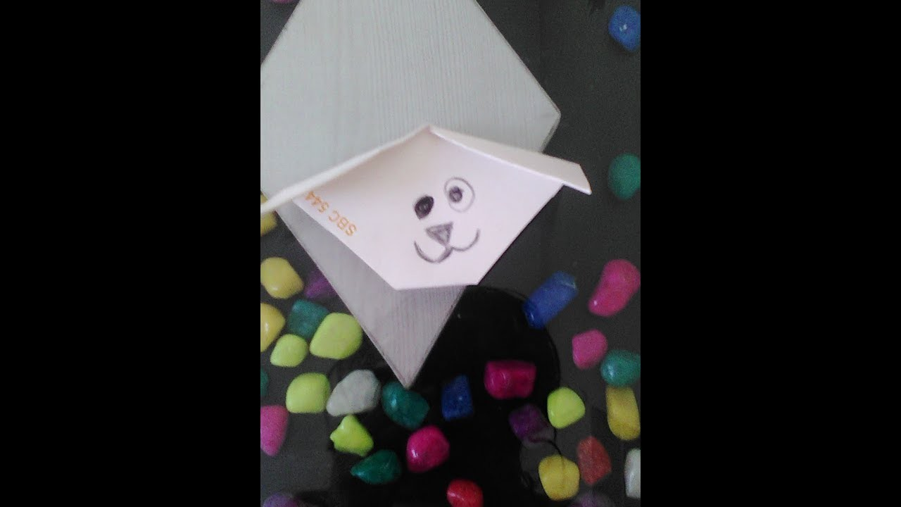 How To Make Paper Dog Very Easy Origami For Kids