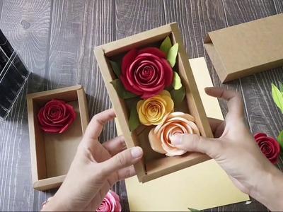 I'm doing a Flower Box Cardstock Paper Rose
