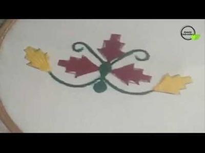 Kadai Kamal Stitch with Dandi Tanka Hand Embroidery Tutorial For Beginnersh
