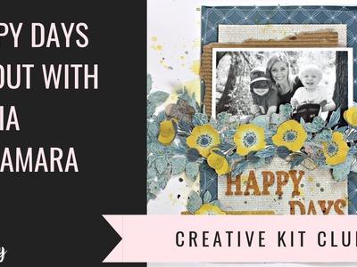 Make a scrapbooking layout tutorial with Alicia McNamara (Happy Day)