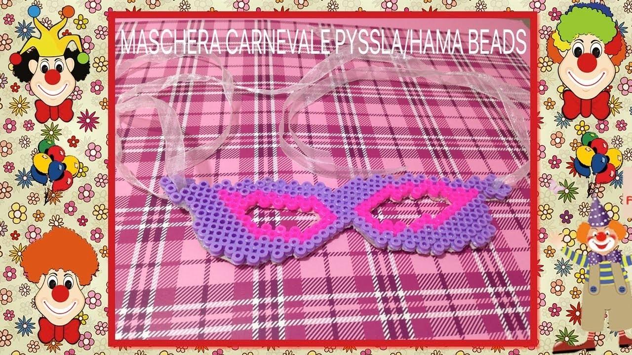 Maschera carnevale Hama beads.pyssla