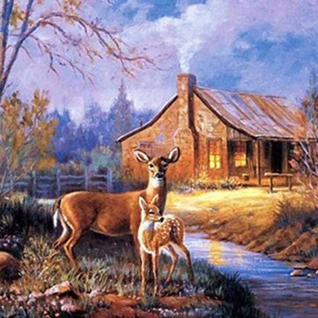 Crafts Natures Wonder Deer Cross Stitch Pattern***LOOK*** PREVIEW A SAMPLE OF MY PATTERNS DETAILS BELOW