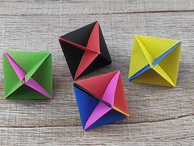 Origami Paper 3D Star | How To Make Star Paper | Cómo hacer una estrella | Figura sencilla de Papel