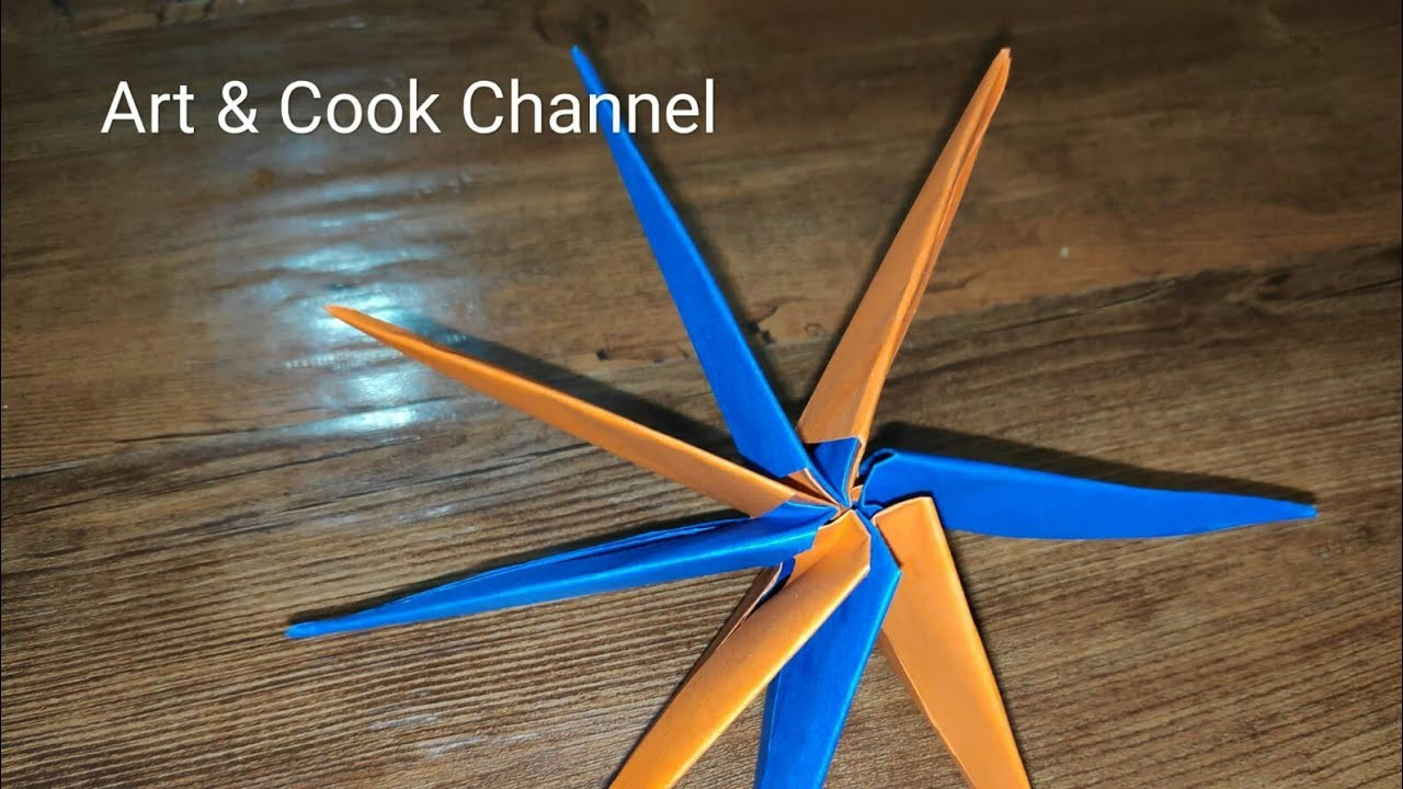 Origami Transforming Super star | Paper Transforming Star | Origami Star | Art & Cook Channel