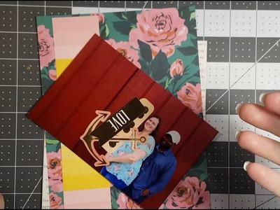 Pregnancy album - 6x8 scrapbooking process