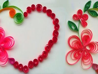 Quilling paper art flower designs, quilling art paper flowers making, quilling paper art simple