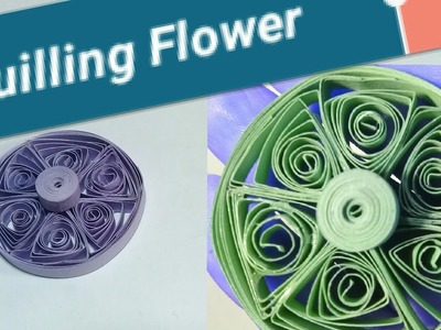Quilling Paper Flower | Paper Flower Making | Woman Garden