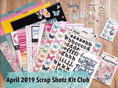 Scrap Shotz April 2019 Scrapbooking Kit