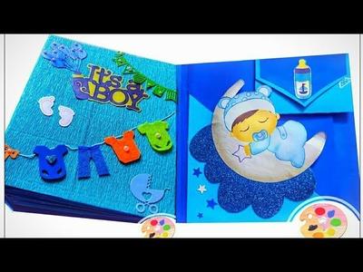 Scrapbook for baby boy