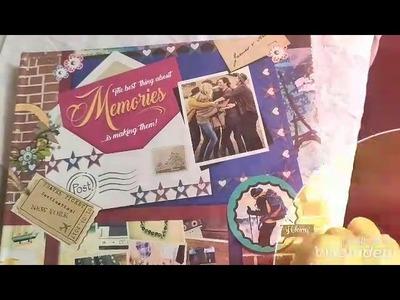 Scrapbook#MemoriesAlbum#DYI#Gift#Boss#Borders&frames# Begineers#Best Friends#Photos#Creativity#craft