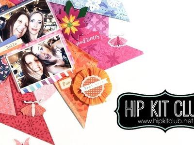 Scrapbook process #35 Hip Kit Club Ad | April Weekend | Vicki Parker