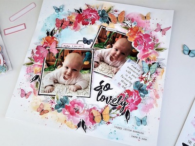 So Lovely 12x12 Scrapbook Layout – The Travelers Notebook Online