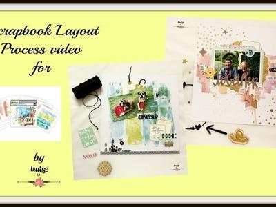 Unpaid product review - Vicki Boutin 12x12 Mixed Media paper pad + 2 scrapbook layouts