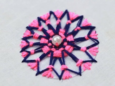 WOW ! Very beautiful hand embroidery easy flower embroidery trick   Hand Embroidery stitch