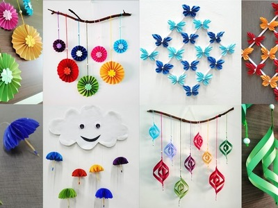 5 Attractive Paper Wall Hanging tutorials - DIY easy wall decoration ideas