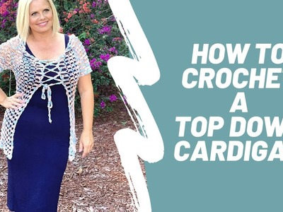 Agnes Crochet Cardigan Tutorial  How to Separate Top Down Yoke to fronts back & sleeves