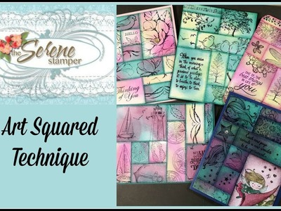 Art Squared Technique with Lovely as a Tree and New Stamp Set Sneak Peeks