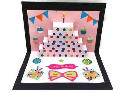 Birthday Cake Popup Card - DIY Tutorial by Paper Folds - 986