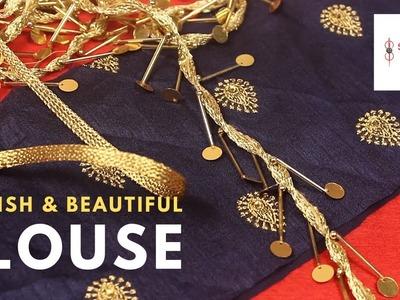 Blouse Design, पार्टी wear कैसे बनाये स्टाइलिश Beautiful Back Neck Designs ब्लाउज cutting stitching