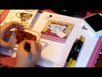 Coloring onto Rubber Stamps