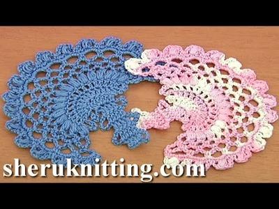 Crochet Leaf  Tutorial 12 Bruges Lace