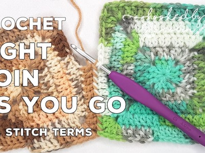 Crochet Tight Join As You Go Method | Solid Granny Square Joining | JAYG for solid crochet squares