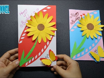 DIY Beautiful Birthday card - DIY Gift Idea -  Easy Paper Crafts TIME LAPSE