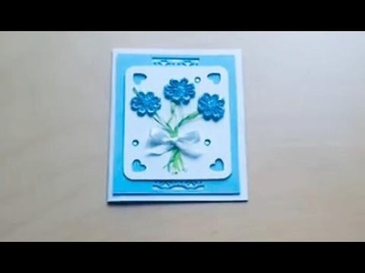 DIY.Greeting card with flowers
