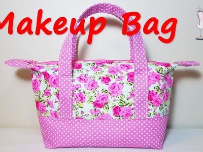 #DIY Makeup Bag | Mini Tote bag | Coudre un sac | 가방 | バッグ | Bolsa de bricolaje