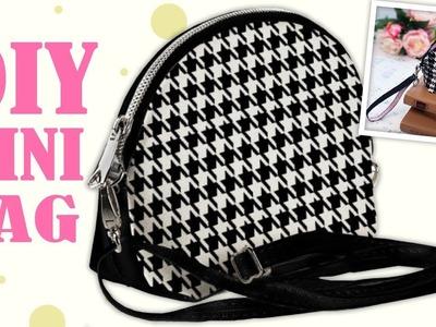 DIY NICE ZIPPER POUCH BAG TUTORIAL. Cut & Sew Making Purse Bag Idea