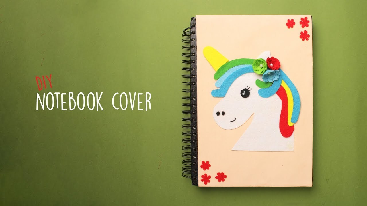 DIY Notebook Cover | Back to School | Unicorn Cover