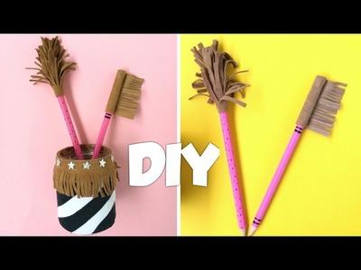 DIY Trendy Pen Holder Desk Organizer | Cute School Supplies | Recycled Crafts (2019)