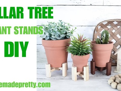 DOLLAR TREE Plant Stand - Dollar Tree Terracotta Pots - Dollar Tree Farmhouse Decor
