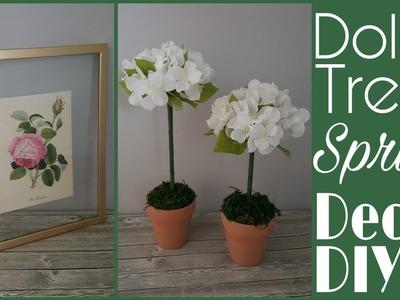 Dollar Tree Spring DIYs •  topiaries and framed art